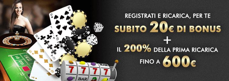 Codice promozionale lottomatica casino