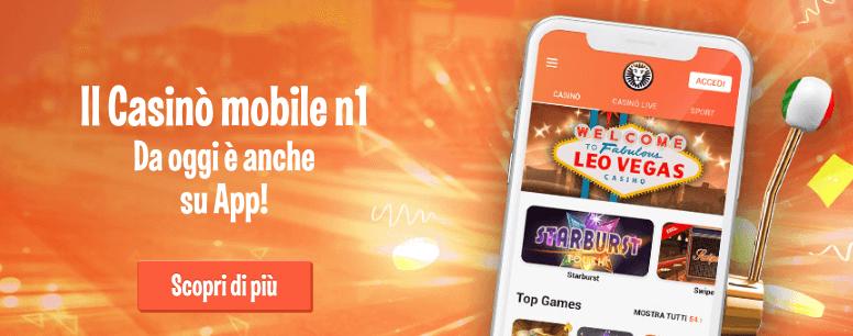 leovegas codice promozionale casinò app mobile