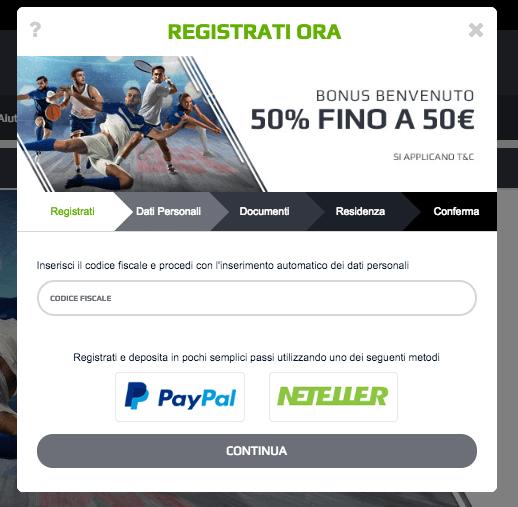 netbet codice partner registrazione