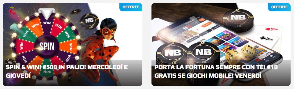 netbet codice partner promozioni casino