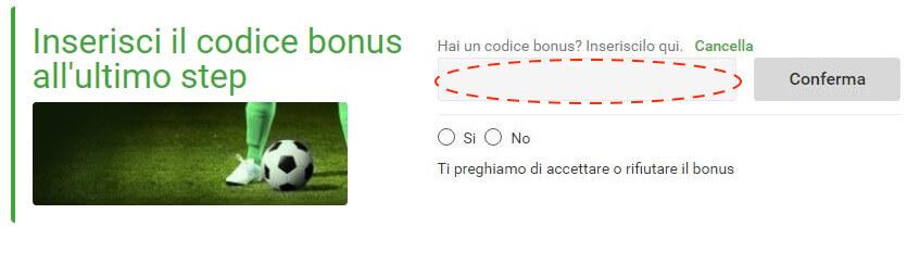 codice bonus unibet registrazione