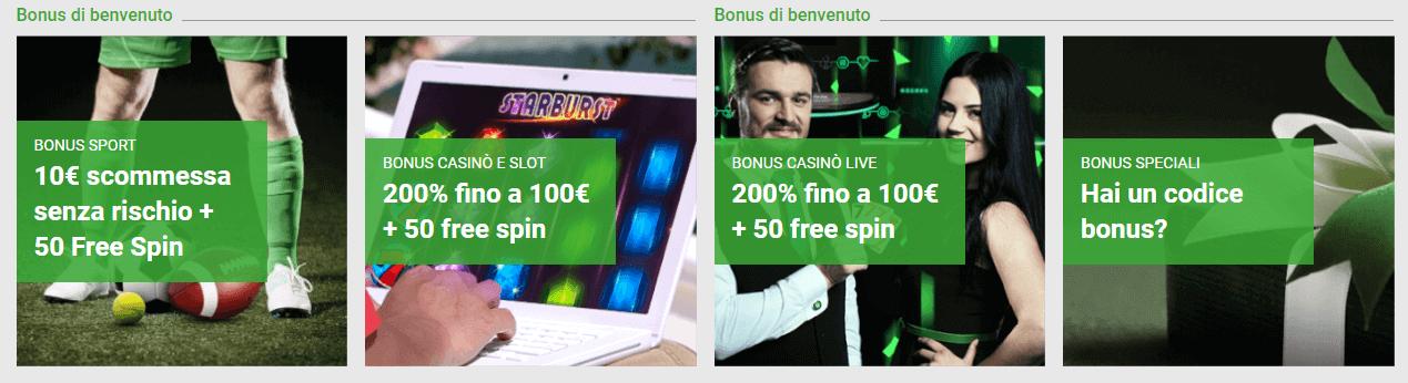 unibet bonus vari